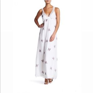 LOLA made in Italy butterfly maxi dress